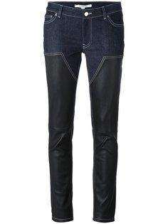 узкие брюки с контрастными вставками Givenchy
