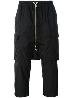 укороченные брюки карго  Rick Owens