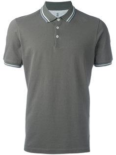 рубашка-поло с полосой на воротнике Brunello Cucinelli