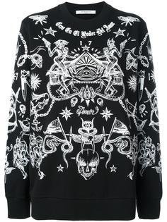 толстовка с принтом Tattoo  Givenchy