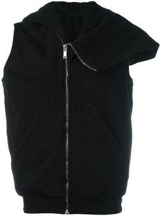 zip up asymmetric hoodie  Rick Owens DRKSHDW