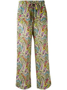 расклешенные брюки с абстрактным узором Etro