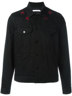 джинсовая куртка с аппликациями-звездами Givenchy