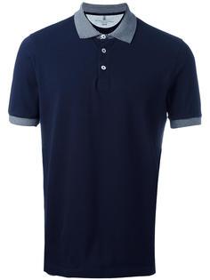 футболка-поло с контрастным воротником Brunello Cucinelli
