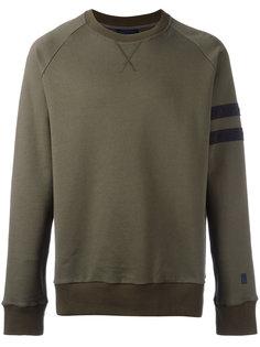 distressed sleeve stripe sweatshirt Lanvin