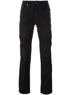 джинсы кроя слим с рваными деталями Marcelo Burlon County Of Milan