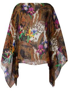 расклешенная блузка с цветочным узором Etro