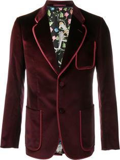 бархатный пиджак Gucci