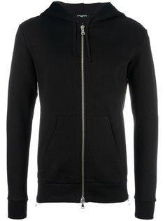 side zip fastened hoodie Balmain