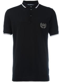 рубашка-поло с вышитой короной Dolce & Gabbana