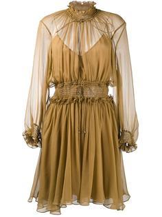 платье с оборками и вырезом спереди Chloé