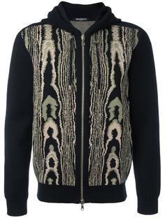 leopard pattern hoodie Balmain