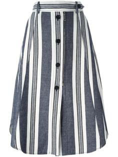 striped buttoned A-line skirt Sportmax