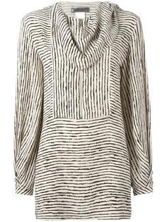draped neck striped blouse Sportmax