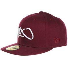 Бейсболка с прямым козырьком K1X Tag Logo 59/50 Burgundy