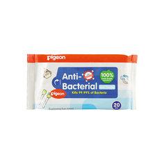 Салфетки влажные детские с антибактериальным эффектом, 20 шт, Pigeon