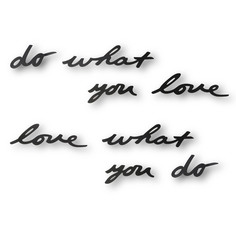 "Надпись декоративная ""do what you love"" Umbra"