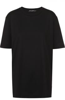 Хлопковая футболка прямого кроя Dolce & Gabbana