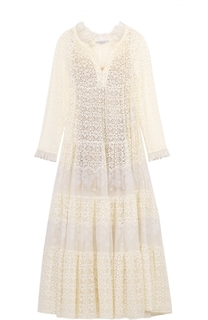 Кружевное полупрозрачное платье свободного кроя Stella McCartney