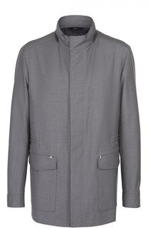 Шерстяная куртка на молнии с воротником-стойкой Brioni