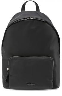 Рюкзак с внешним карманом на молнии и контрастной отделкой на лямках Burberry