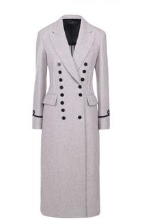 Двубортное приталенное пальто с широкими лацканами Joseph