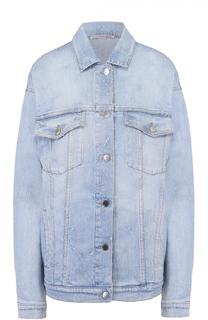 Джинсовая куртка свободного кроя с отделкой в виде звезд Stella McCartney