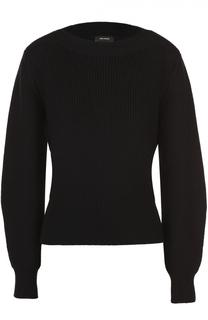 Приталенный пуловер фактурной вязки с объемными рукавами Isabel Marant