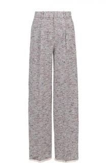 Широкие брюки с защипами и бахромой Theory