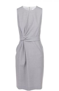 Приталенное платье без рукавов с драпировкой HUGO