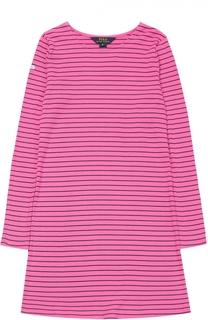 Платье джерси с рисунком в полоску Polo Ralph Lauren