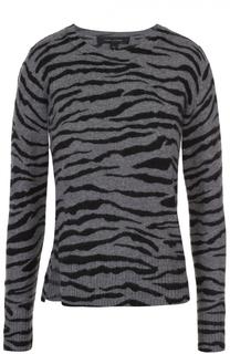 Кашемировый пуловер со звериным принтом Marc Jacobs