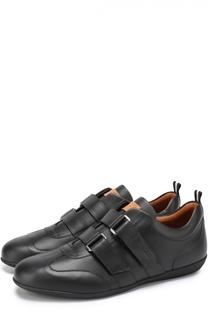 Кожаные кроссовки с застежкой велькро Bally
