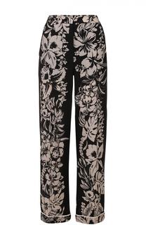 Брюки в пижамном стиле с контрастным принтом Valentino