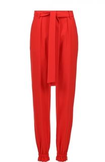 Укороченные брюки с манжетами и поясом MSGM