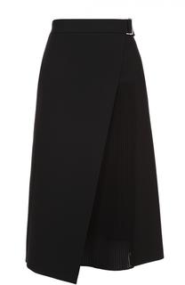 Расклешенная юбка с плиссированной вставкой HUGO