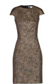Приталенное мини-платье без рукавов с металлизированной отделкой Diane Von Furstenberg