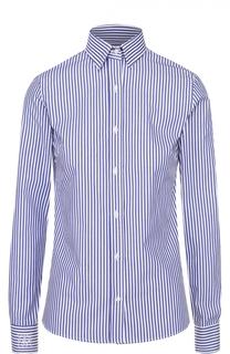 Приталенная хлопковая блузу в полоску Stella Jean