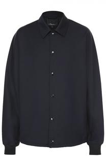 Шерстяная рубашка на кнопках свободного кроя 3.1 Phillip Lim