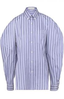 Блуза в полоску с объемными рукавами Balenciaga