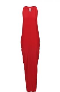 Платье-макси без рукавов с драпировкой Rick Owens