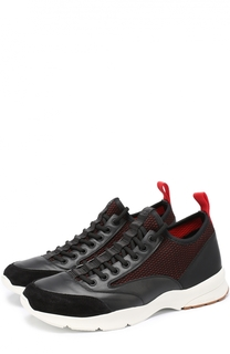 Комбинированные кроссовки на контрастной подошве Dior