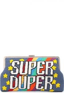 Клатч Super Duper с вышивкой бисером Sarah's Bag
