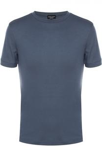 Кашемировая футболка с круглым вырезом Giorgio Armani