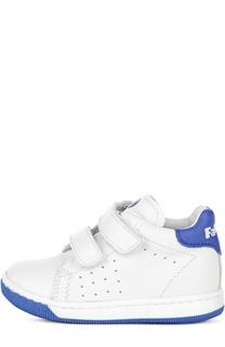 Кожаные кроссовки с двойной застежкой велькро Falcotto