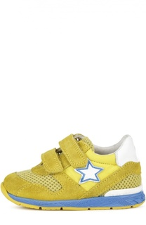 Замшевые кроссовки со вставками и застежками велькро Falcotto