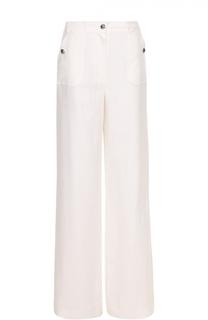 Льняные широкие брюки с карманами Escada Sport