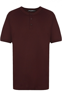Хлопковая футболка хенли Dolce & Gabbana