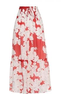 Юбка-миди с цветочным принтом и эластичным поясом Escada Sport