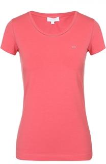 Облегающая футболка с круглым вырезом и логотипом бренда Escada Sport